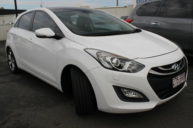 Used Hyundai i30 GD Premium, 2012 Hyundai i30 GD Premium White 6 Speed Sports Automatic Hatchback