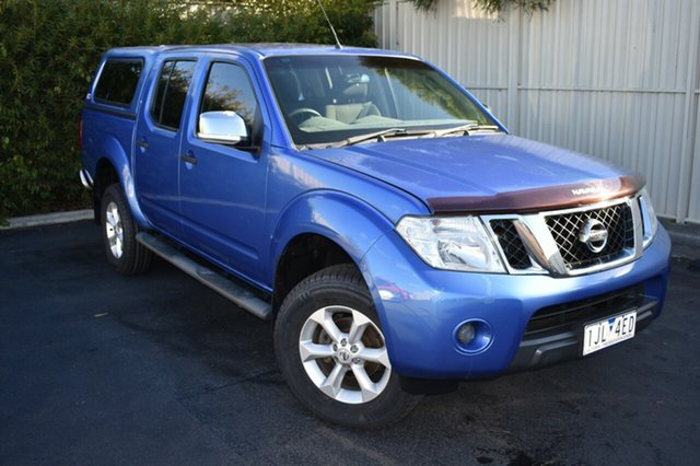 Used Nissan Navara D40 ST-X, 2010 Nissan Navara D40 ST-X Blue 5 Speed Automatic Utility