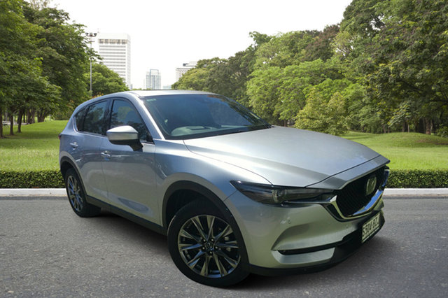 Demo Mazda CX-5 KF4WLA Akera SKYACTIV-Drive i-ACTIV AWD, 2018 Mazda CX-5 KF4WLA Akera SKYACTIV-Drive i-ACTIV AWD Sonic Silver 6 Speed Sports Automatic Wagon