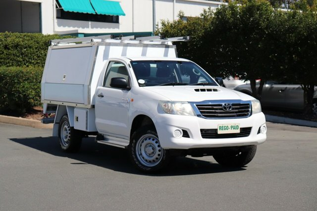 Used Toyota Hilux KUN26R MY14 SR, 2013 Toyota Hilux KUN26R MY14 SR Glacier 5 Speed Manual Cab Chassis