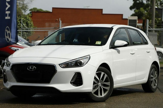 New Hyundai i30 PD2 MY19 Active, 2019 Hyundai i30 PD2 MY19 Active Polar White 6 Speed Sports Automatic Hatchback