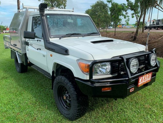 Used Toyota Landcruiser VDJ79R MY13 Workmate, 2012 Toyota Landcruiser VDJ79R MY13 Workmate White 5 Speed Manual Cab Chassis