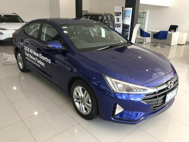 Demo Hyundai Elantra AD.2 MY19 Active, 2019 Hyundai Elantra AD.2 MY19 Active Intense Blue 6 Speed Sports Automatic Sedan