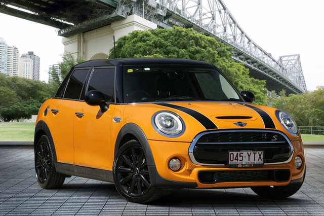 Used Mini Hatch F55 Cooper S, 2015 Mini Hatch F55 Cooper S Orange 6 Speed Automatic Hatchback