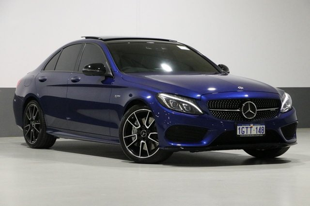 Used Mercedes-Benz C43 W205 807+057MY AMG 9G-Tronic 4MATIC, 2017 Mercedes-Benz C43 W205 807+057MY AMG 9G-Tronic 4MATIC Blue 9 Speed Sports Automatic Sedan