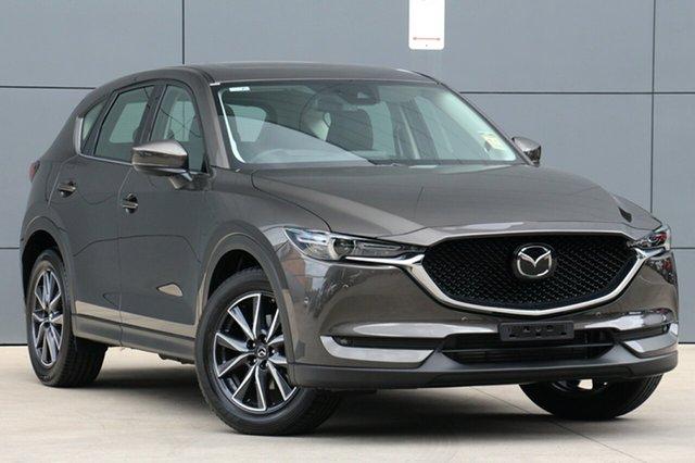 New Mazda CX-5 KF4WLA GT SKYACTIV-Drive i-ACTIV AWD, 2018 Mazda CX-5 KF4WLA GT SKYACTIV-Drive i-ACTIV AWD Titanium Flash 6 Speed Sports Automatic Wagon