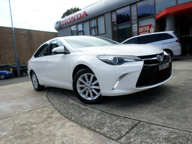 Used Toyota Camry ASV50R Atara S, 2015 Toyota Camry ASV50R Atara S White 6 Speed Sports Automatic Sedan