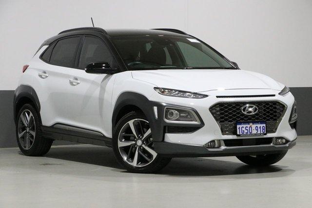 Used Hyundai Kona OS Highlander (AWD), 2018 Hyundai Kona OS Highlander (AWD) White 7 Speed Auto Dual Clutch Wagon