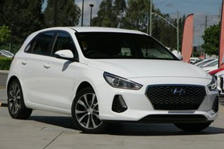 2019 Hyundai i30 PD2 MY19 Elite Polar White 6 Speed Sports Automatic Hatchback.