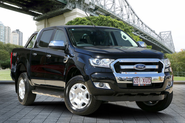Used Ford Ranger PX MkII 2018.00MY XLT Double Cab, 2018 Ford Ranger PX MkII 2018.00MY XLT Double Cab Black 6 Speed Sports Automatic Utility