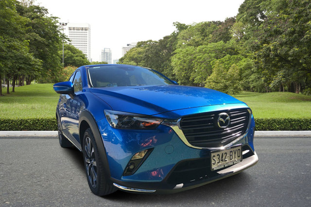 Demo Mazda CX-3 DK2W7A sTouring SKYACTIV-Drive, 2018 Mazda CX-3 DK2W7A sTouring SKYACTIV-Drive Dynamic Blue 6 Speed Sports Automatic Wagon
