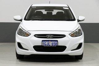 2017 Hyundai Accent RB4 MY17 Active White 6 Speed CVT Auto Sequential Sedan.