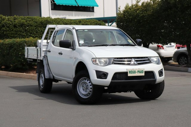 Used Mitsubishi Triton MN MY11 GLX Double Cab 4x2, 2010 Mitsubishi Triton MN MY11 GLX Double Cab 4x2 White 5 Speed Manual Utility
