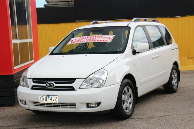 Used Kia Carnival VQ MY07 EX, 2007 Kia Carnival VQ MY07 EX White 4 Speed Sports Automatic Wagon