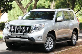 2016 Toyota Landcruiser Prado GDJ150R Kakadu Silver 6 Speed Sports Automatic Wagon.