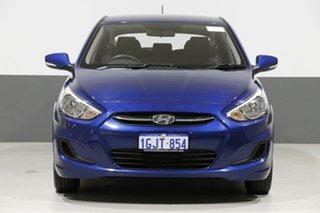 2017 Hyundai Accent RB4 MY17 Active Blue 6 Speed CVT Auto Sequential Sedan.
