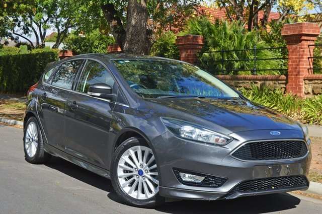 Used Ford Focus LZ Sport, 2016 Ford Focus LZ Sport Grey 6 Speed Manual Hatchback