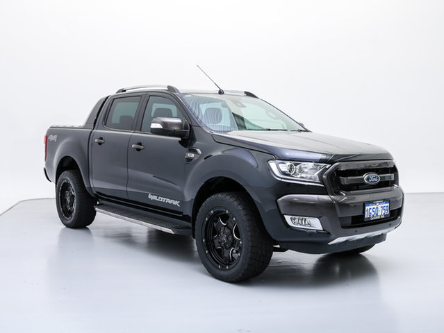Used Ford Ranger PX MkII Wildtrak 3.2 (4x4), 2016 Ford Ranger PX MkII Wildtrak 3.2 (4x4) Black 6 Speed Automatic Dual Cab Pick-up