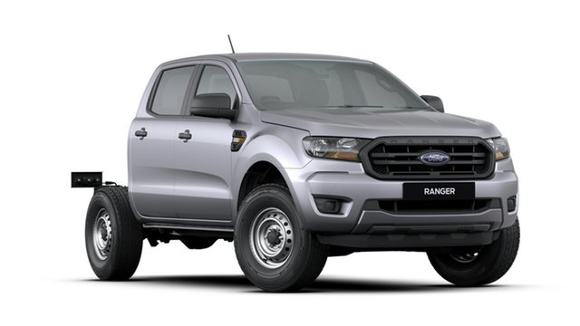 New Ford Ranger PX MkIII 2019.75MY XL Double Cab, 2019 Ford Ranger PX MkIII 2019.75MY XL Double Cab Aluminium 6 Speed Sports Automatic Cab Chassis