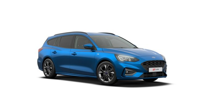 New Ford Focus SA 2019.75MY ST-Line, 2019 Ford Focus SA 2019.75MY ST-Line Desert Island Blue 8 Speed Automatic Wagon