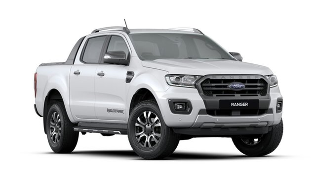 New Ford Ranger  Wildtrak Pick-up Double Cab, 2019 Ford Ranger PX MKIII 2019.7 Wildtrak Pick-up Double Cab Arctic White 10 Speed Sports Automatic