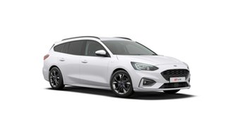 2019 Ford Focus SA 2019.25MY ST-Line Frozen White 8 Speed Automatic Wagon.