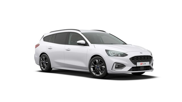 New Ford Focus SA 2019.25MY ST-Line, 2019 Ford Focus SA 2019.25MY ST-Line Frozen White 8 Speed Automatic Wagon