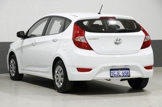 2017 Hyundai Accent RB4 MY17 Active White 6 Speed CVT Auto Sequential Sedan