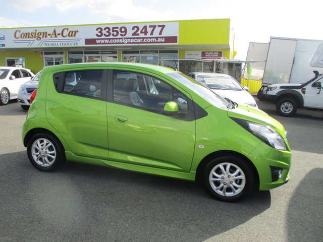 Used Holden Barina Spark MJ MY15 CD, 2014 Holden Barina Spark MJ MY15 CD Green 5 Speed Manual Hatchback