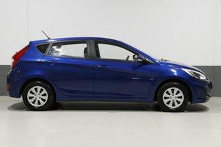 2017 Hyundai Accent RB4 MY17 Active Blue 6 Speed CVT Auto Sequential Sedan