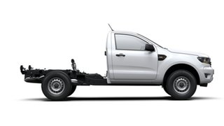 2019 Ford Ranger PX MkIII 2019.00MY XL 4x2 Hi-Rider White 6 Speed Sports Automatic Cab Chassis.