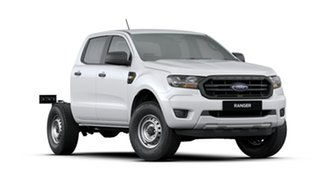 2019 Ford Ranger PX MkIII 2019.75MY XL Double Cab White 6 Speed Sports Automatic Cab Chassis.