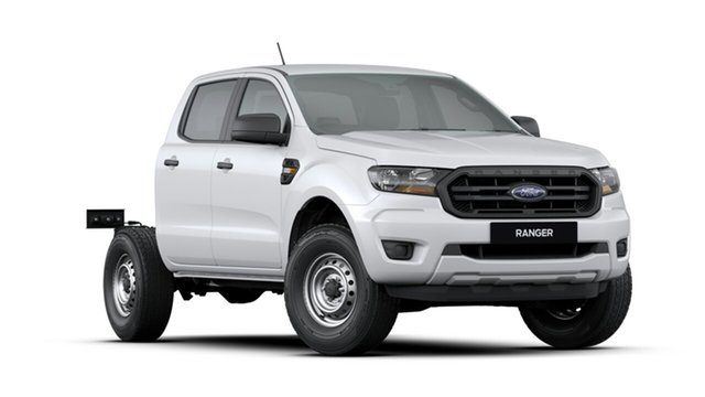 New Ford Ranger PX MkIII 2019.75MY XL Double Cab, 2019 Ford Ranger PX MkIII 2019.75MY XL Double Cab Arctic White 6 Speed Sports Automatic Cab Chassis