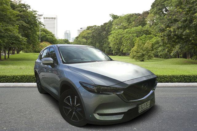 Demo Mazda CX-5 KF4W2A GT SKYACTIV-Drive i-ACTIV AWD, 2018 Mazda CX-5 KF4W2A GT SKYACTIV-Drive i-ACTIV AWD Sonic Silver 6 Speed Sports Automatic Wagon