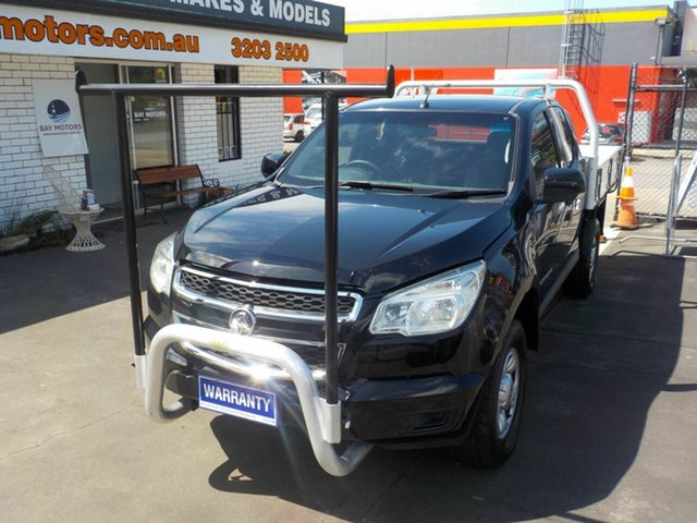 Used Holden Colorado RG LX (4x4), 2013 Holden Colorado RG LX (4x4) Black 5 Speed Manual Space Cab Chassis