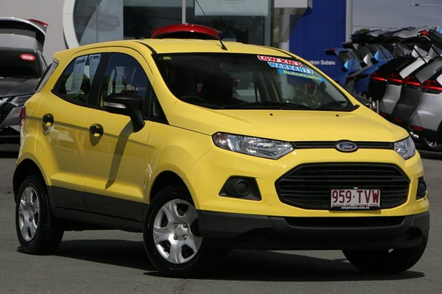 Used Ford Ecosport BK Ambiente PwrShift, 2013 Ford Ecosport BK Ambiente PwrShift Yellow 6 Speed Sports Automatic Dual Clutch Wagon