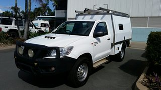 2013 Toyota Hilux KUN26R MY14 SR White 5 Speed Manual Cab Chassis