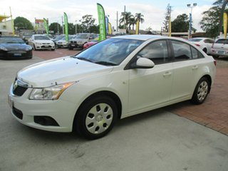 2012 Holden Cruze JH Series II MY12 CD White 6 Speed Sports Automatic Sedan.
