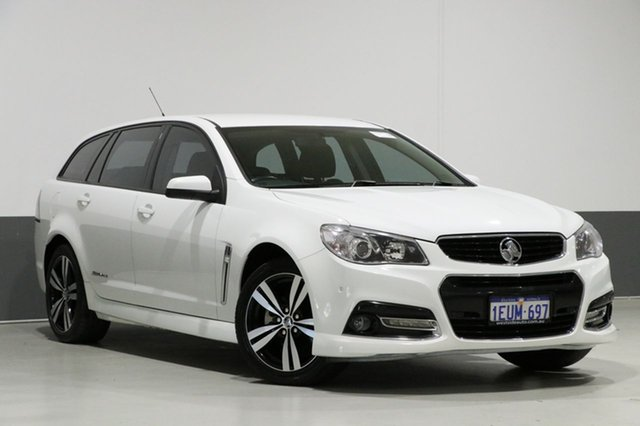 Used Holden Commodore VF MY15 SV6 Storm, 2015 Holden Commodore VF MY15 SV6 Storm White 6 Speed Automatic Sportswagon