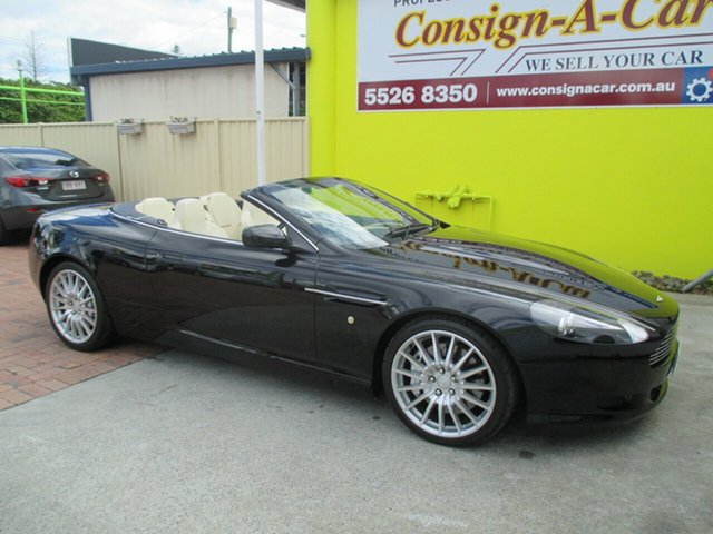 Used Aston Martin DB9 MY05 Volante, 2005 Aston Martin DB9 MY05 Volante Black 6 Speed Sports Automatic Convertible