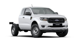 2020 Ford Ranger PX MkIII 2020.75MY XL White 6 Speed Sports Automatic Super Cab Chassis.