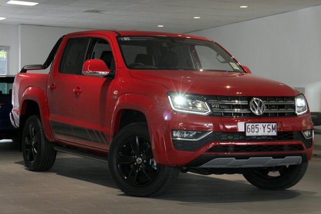 Demo Volkswagen Amarok 2H MY19 TDI580 4MOTION Perm Highline Edition, 2018 Volkswagen Amarok 2H MY19 TDI580 4MOTION Perm Highline Edition Tornado Red 8 Speed Automatic