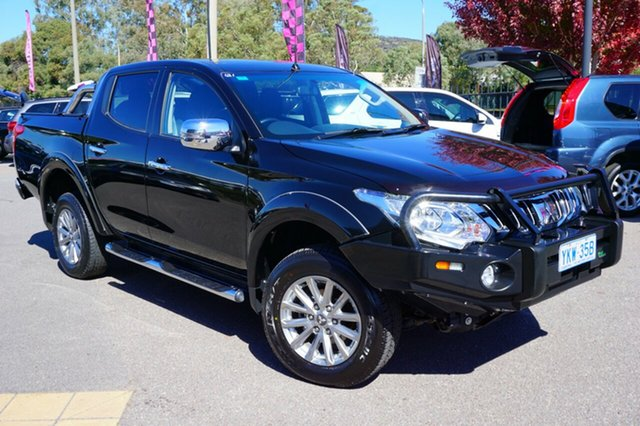 Used Mitsubishi Triton MQ MY16 GLS Double Cab, 2015 Mitsubishi Triton MQ MY16 GLS Double Cab Black 6 Speed Manual Utility