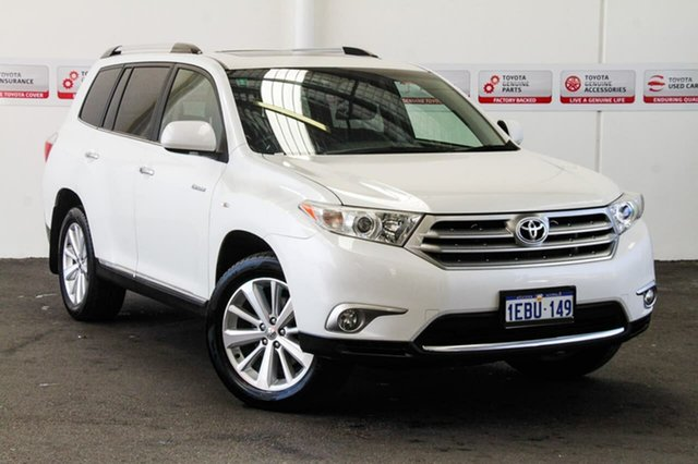 Used Toyota Kluger GSU45R MY11 Upgrade Grande (4x4), 2012 Toyota Kluger GSU45R MY11 Upgrade Grande (4x4) Crystal Pearl 5 Speed Automatic Wagon