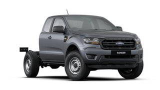 2020 Ford Ranger PX MkIII 2020.75MY XL Meteor Grey 6 Speed Sports Automatic Super Cab Chassis.