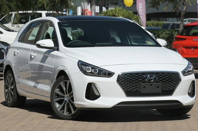 New Hyundai i30 PD2 MY19 Premium, 2018 Hyundai i30 PD2 MY19 Premium Polar White 6 Speed Sports Automatic Hatchback