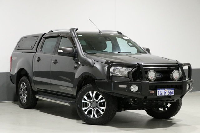 Used Ford Ranger PX MkII MY17 Wildtrak 3.2 (4x4), 2016 Ford Ranger PX MkII MY17 Wildtrak 3.2 (4x4) Graphite 6 Speed Automatic Dual Cab Pick-up
