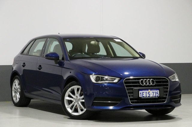 Used Audi A3 8V S/Back 1.4 TFSI Attraction CoD, 2013 Audi A3 8V S/Back 1.4 TFSI Attraction CoD Blue 7 Speed Auto Direct Shift Hatchback
