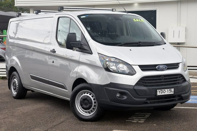 Used Ford Transit Custom VN 330L Low Roof LWB, 2015 Ford Transit Custom VN 330L Low Roof LWB Silver 6 Speed Manual Van