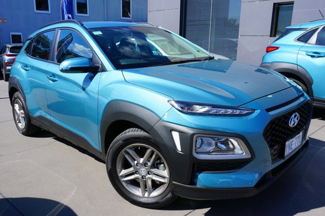 Demo Hyundai Kona OS.2 MY19 Active D-CT AWD, 2018 Hyundai Kona OS.2 MY19 Active D-CT AWD Ceramic Blue 7 Speed Sports Automatic Dual Clutch Wagon